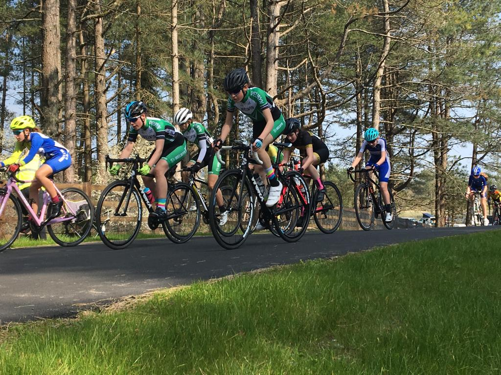 Youth B Girls – Beth, Ellen and Millie – on Stage 2