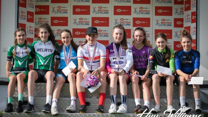 Ellen and Ella on the BC podium (photo Huw Williams)