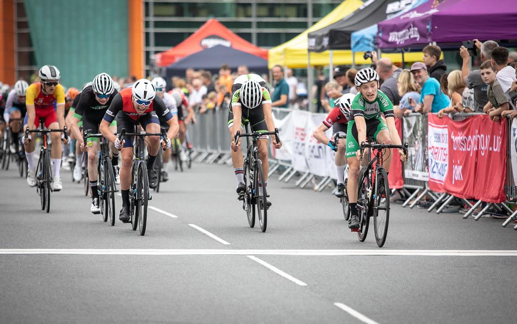 Joe Kiely Winning Stage 3 – picture: British Cycling Photographers