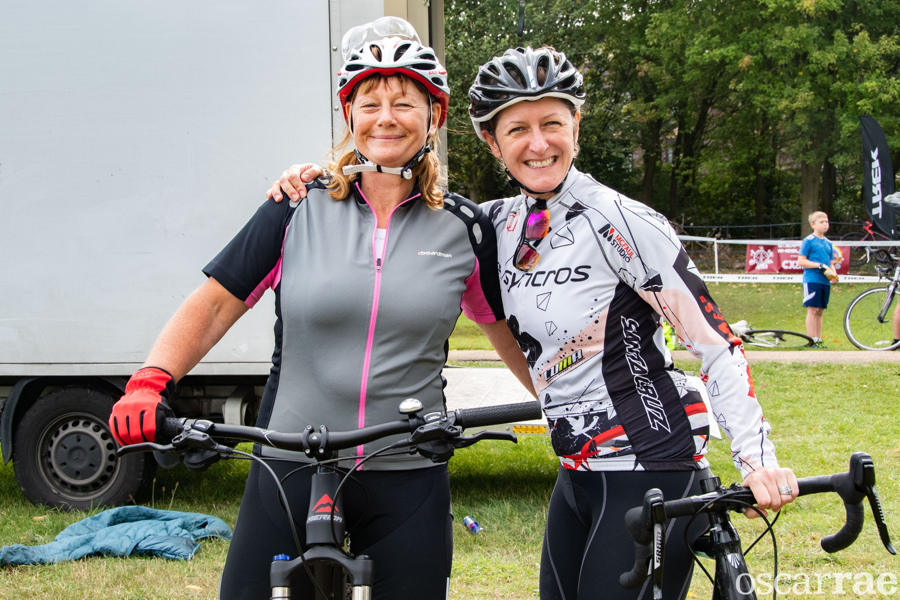 Susan and Lorraine – both now hooked on Cyclocross